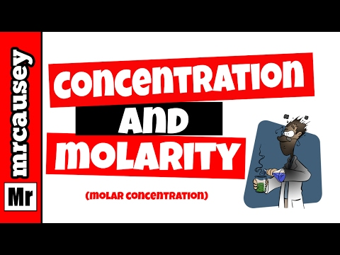 how to find concentration in chemistry