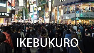 TOKYO. Ikebukuro Sta.(East Exit) To Sunshine City Prince Hotel without using the underpass. #4K