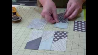 "How to make a Picket Fence block using 5"" squares - Quilting Tips & Techniques 045"