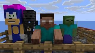 Monster School: GIRLS VS BOYS SWIMMING GAME CHALLENGE - Minecraft Animation