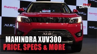 Mahindra XUV300 launched in India   Price, Specifications and more
