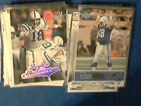 Peyton Manning football cards Colts Broncos Tennesse Future Hall of Famer Super Bowl MVP