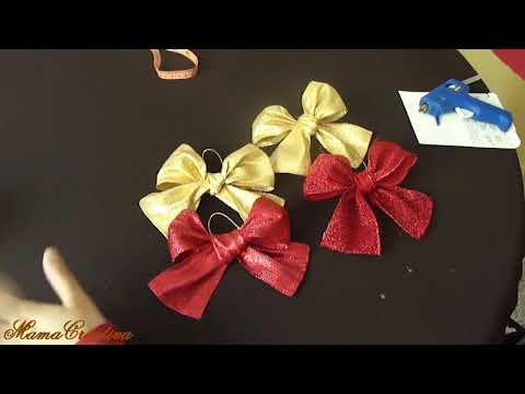 Manualidades para navidad (Moño De Navidad)