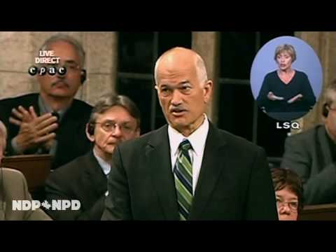 NDP: Jack Layton on strengthening Canada's offshore drilling laws