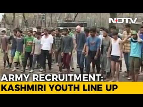 5,000 Kashmiri Men Turn Up At Try-Outs For 34 Army Opening