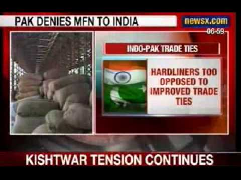 NewsX: Pakistan denies 'Most Favoured Nation' to India