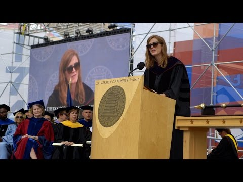 Samantha Power Gives the 2015 Commencement Address at Penn
