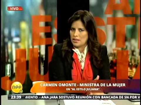 Entrevista a la ministra de la Mujer, Carmen Omonte – Parte 2