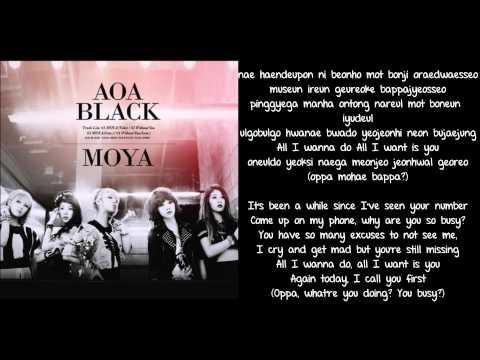 [ROM + ENG] AoA Black - Moya Lyrics
