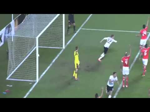 Nacer Chadli Second Goal 1-2 Benfica vs Tottenham | 20-3-2014 Europa League HD