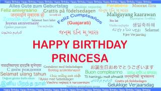 Princesa   Languages Idiomas - Happy Birthday