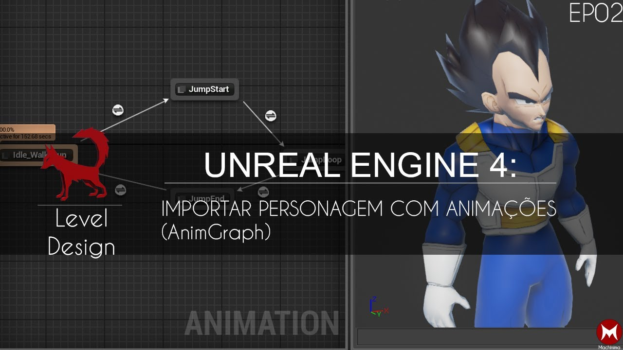 Character Design Unreal Engine 4 : Unreal engine importar character com animações