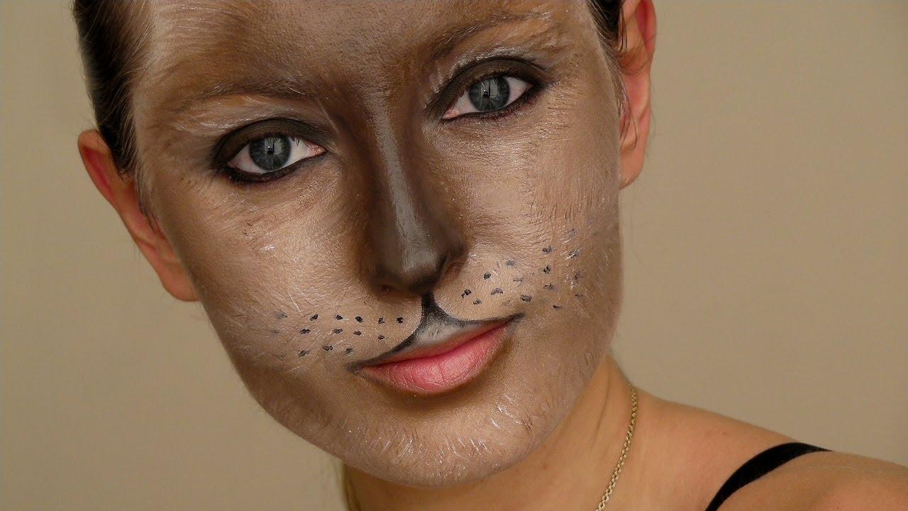 Cat Mask Halloween Makeup