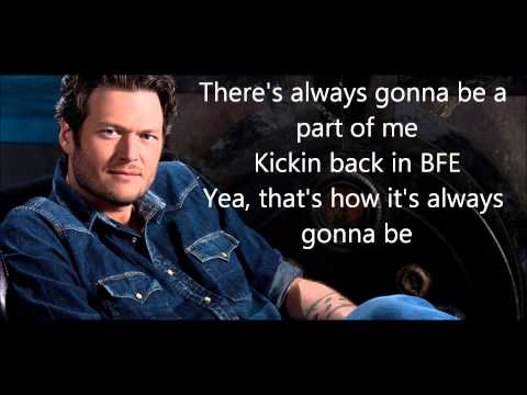 Blake Shelton Country On The Radio with Lyrics