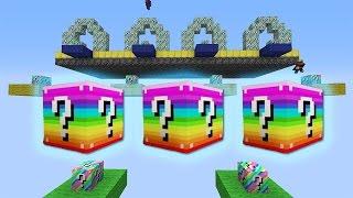 Minecraft RAINBOW Lucky Blocks DROPPER Mod (Modded Staircase) #2