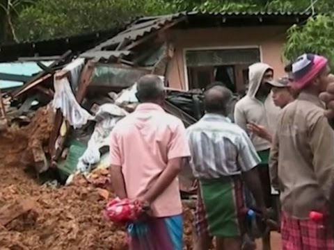 Raw: Rains Cause Deadly Landslides in Sri Lanka