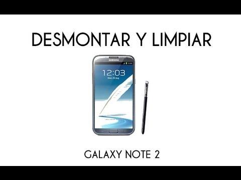 DESMONTAR Y LIMPIAR SAMSUNG GALAXY NOTE PARTE 1 (ESPAÑOL) HD