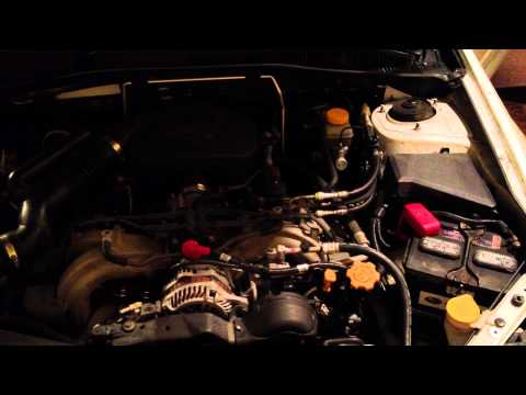 Subaru Outback EJ25 cold start engine fluttering