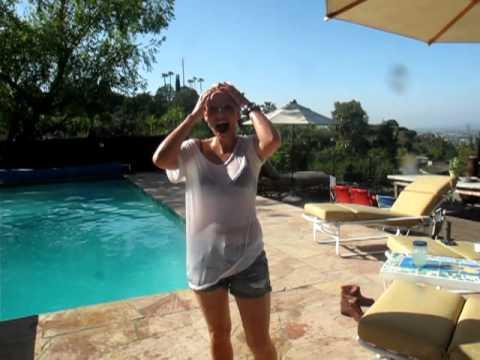 Jennifer in the pool