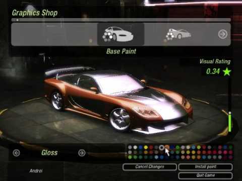 NFS Underground 2 Mazda rx-7 Veilside Fortune Mod