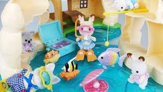 Baby doll rabbit Seaside fishing and sea house toys swim play 아기인형 토끼 해변 낚시와 바다 하우스 장난감 수영 놀이 - 토이몽