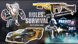 New Robots & Sick Car Skin - Rules of Survival Update