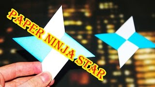 How to make a Paper Pointy Ninja Star (Origami Throwing Star Shurikens)
