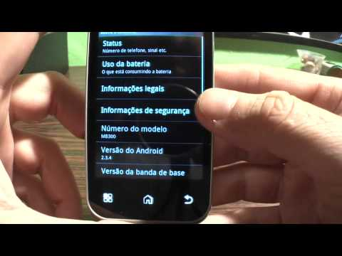 Motorola Backflip com Android 2.3 Gingerbread