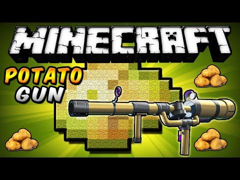 Minecraft - Potato Gun MOD (Las papas duelen más que los balazos!!) - ESPAÑOL TUTORIAL