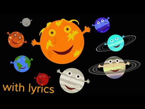 The Solar System Song (with lyrics)