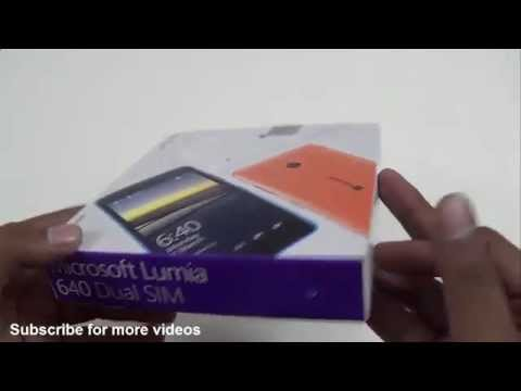 Microsoft Lumia 640 Unboxing - Indian Retail Version