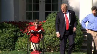 11-Year-Old Cuts White House Lawn
