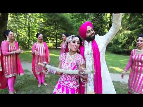 Graceful Sikh beautiful Indian Wedding punjabi Sikh Wedding  Wedding Story Of Amy + Japi video