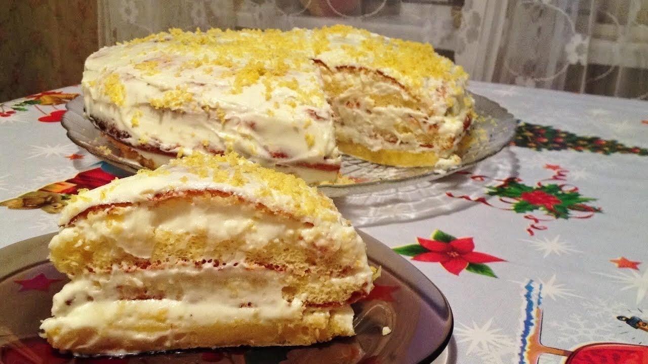 Торт Птичье молоко с манкой и лимоном (пошаговый) 60