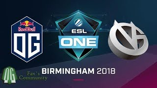 (144. MB) OG vs VG - Game 1 - ESL One Birmingham 2018 - Group Stage Mp3