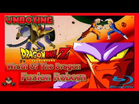 Unboxing Dragon Ball Z Fusion Reborn / Wrath Of The Dragon Double Feature Blu Ray HD 1080P
