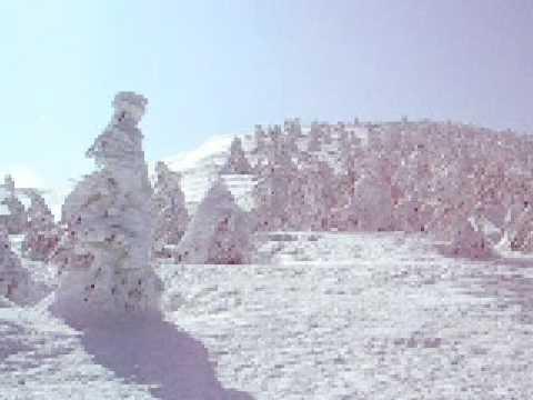 蔵王ロープウエイ地蔵山頂駅周辺の樹氷09 03 05