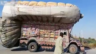 Overloaded Truck Delivery Goes Wrong In Pakistan