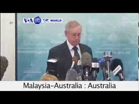 Malaysia-Australia : Investigating debris from Malaysian plane in Indian Ocean. VOA60 World 0320