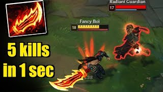 RAGEBLADE TRYNDAMERE - 5 kills in 1 second -  League of Legends Compilation