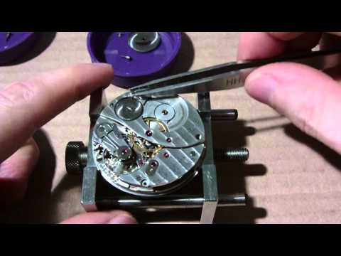 How I take apart a pocket watch, Elgin, BW Raymond, 571