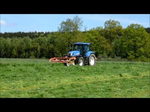 New holland T6.175 et combiné Kuhn GMD 702 F et GMD 4410