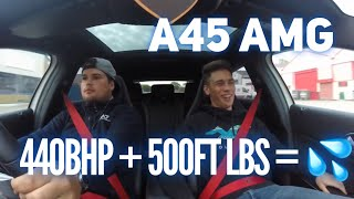 RIDE ALONG IN A 440BHP A45 AMG STAGE 2!
