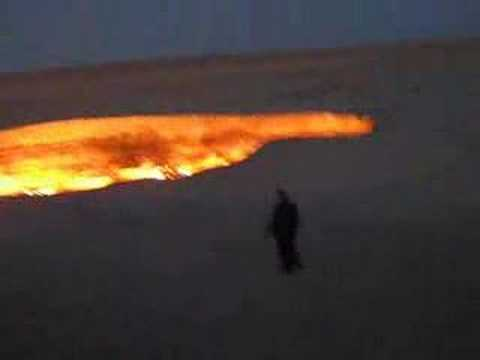 RTW Trip #12. Darvaza, Turkmenistan. Gas Crater - 