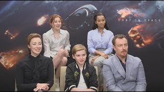 Netflix's Lost In Space: Interview With The Robinsons | Geek Interviews