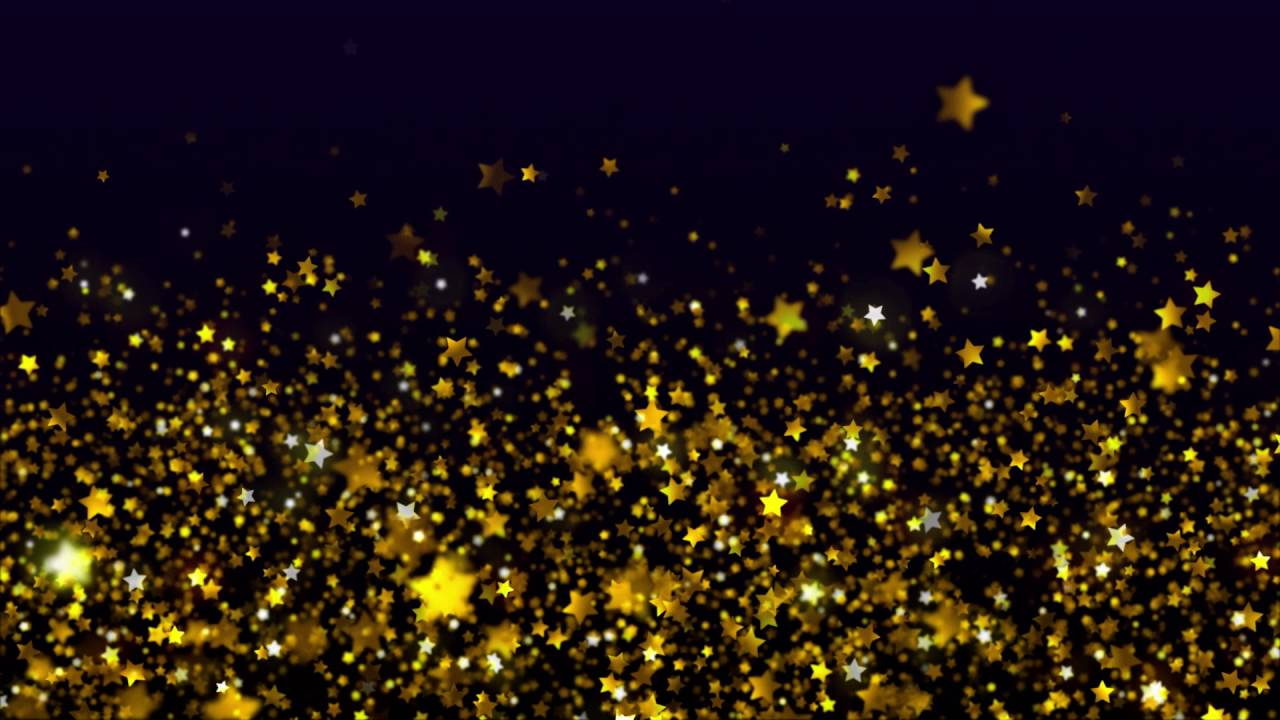 Black and gold stars background