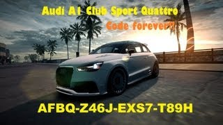 ✔ Need for Speed World Audi A1 Club Sport Quattro | Official Code forever!!