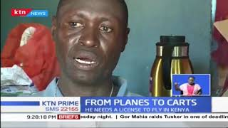 Samuel Mwawato, former pilot in U.S.A now a garbage collector in Kilifi