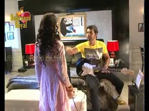 On Location Of Tv Serial 'kumkum Bhagya'  Abhi Stringing His Guitar video
