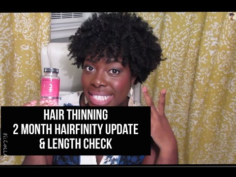 Hair Thinning? 2 month Hairfinity update + Length Check  - Jenell Stewart